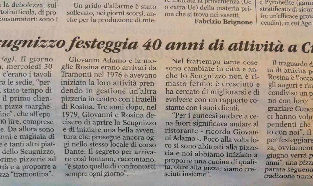 La Guida Cuneo: i 40 anni dello Scugnizzo